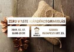 Zero waste ajándékcsomagolás a Megállóban