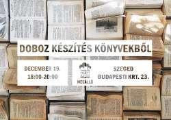 Doboz készítés könyvekből a Megállóban