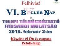 Böllér nap és telepi télbúcsúztató farsangi mulatság a Petőfi-telepi Művelődési Házban